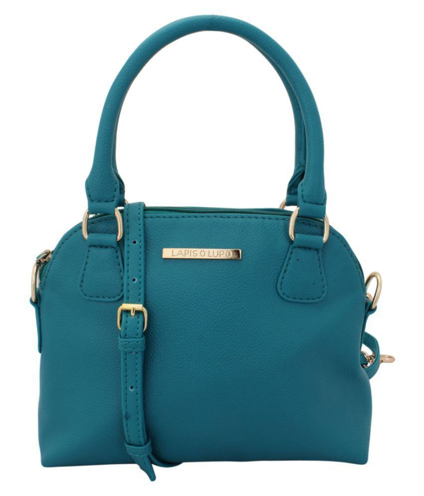 Lapis O Lupo Turquoise Faux Leather Sling Bag