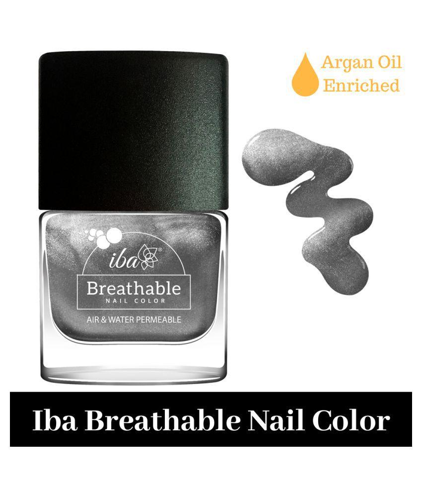 Iba Halal Breathable Nail Color Nail Polish B22 Sparkling Silver mL