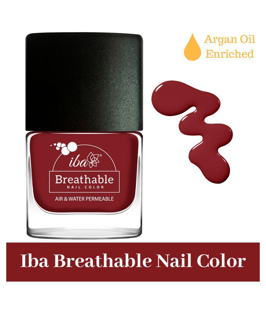 Iba Halal Breathable Nail Color Nail Polish B08 Very Berry mL