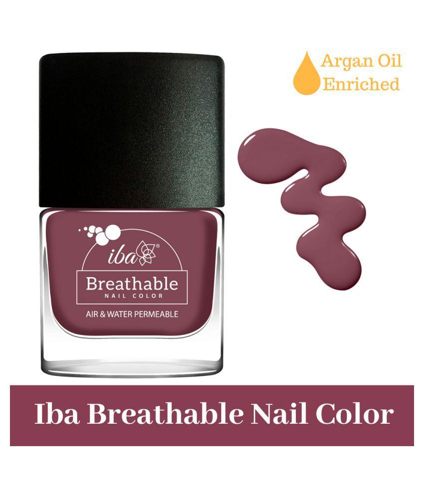 Iba Halal Breathable Nail Color Nail Polish B06 Plum Cake mL