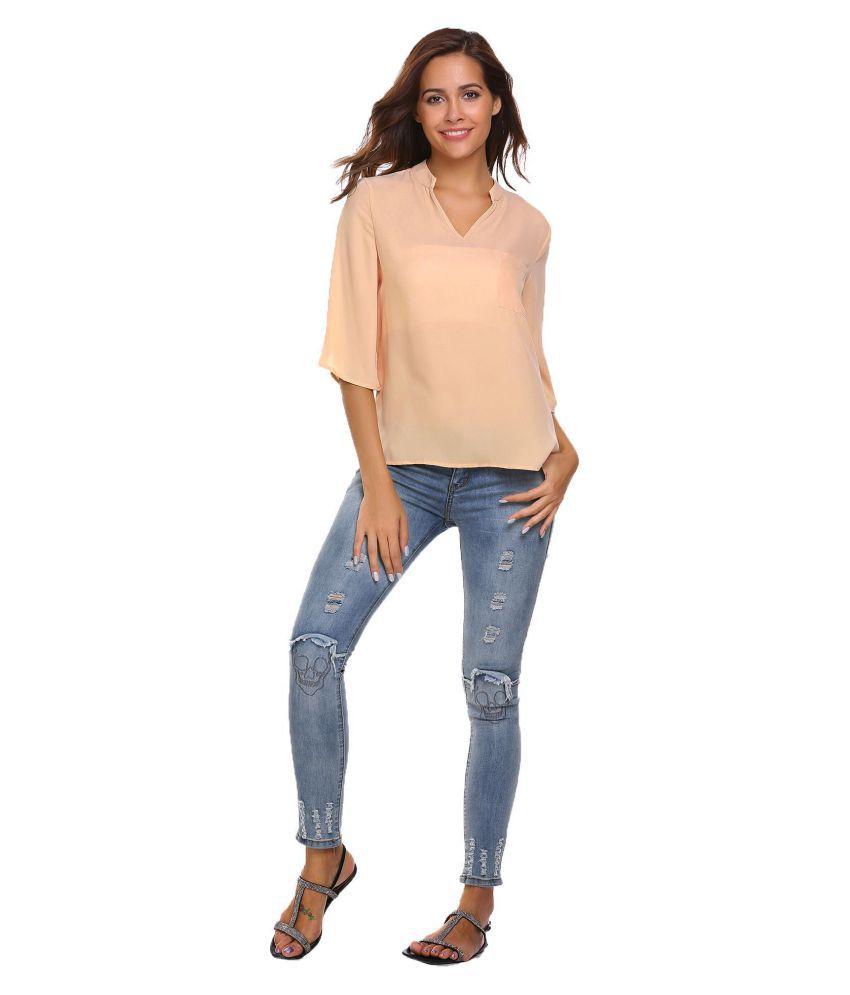 Generic beige Half Sleeve T-Shirt
