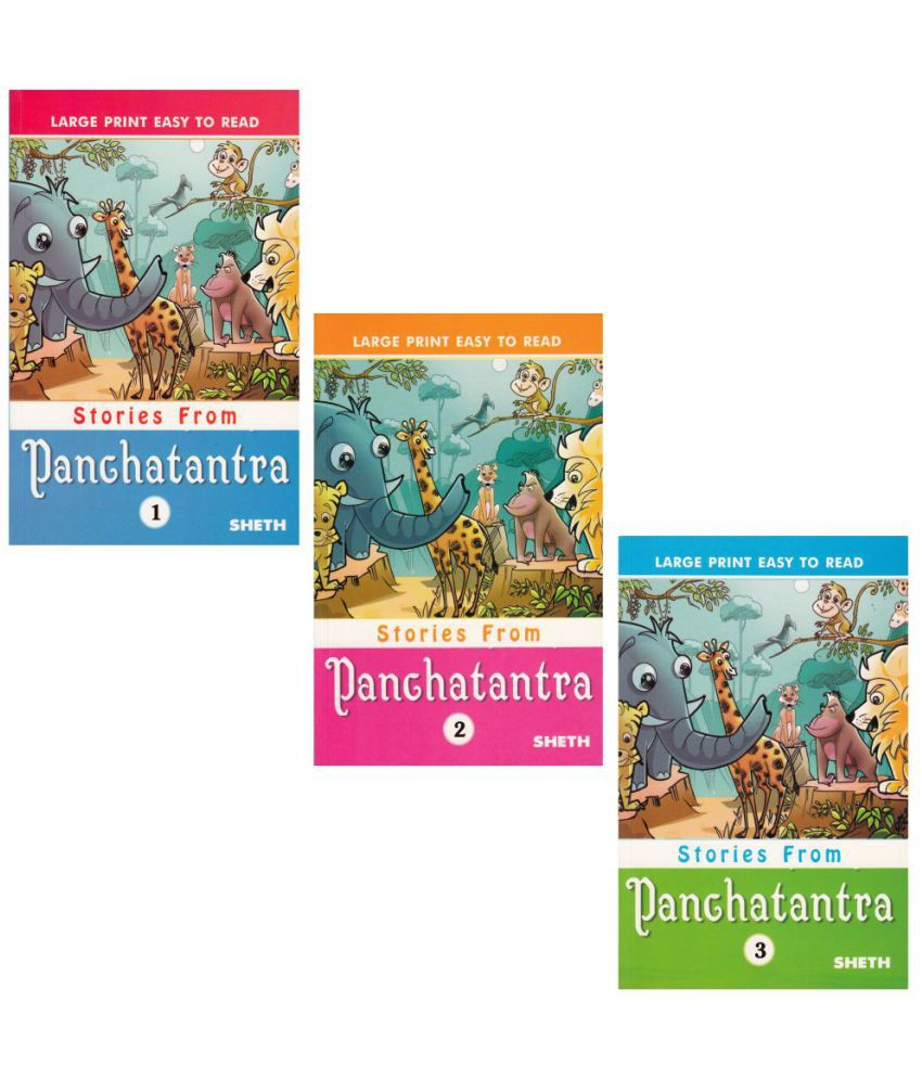 Large Print Easy to Read Stories from Panchtantra (Set of 3)