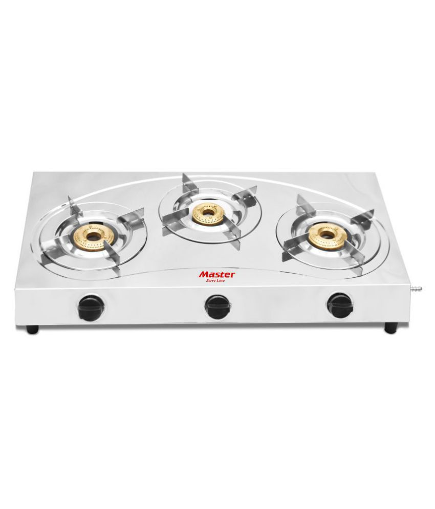 master stainless steel lpg stove spectra 3 burner 3 burner manual rh snapdeal com