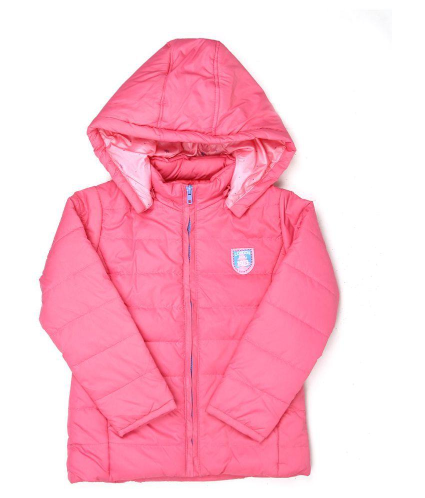 London Fog Girls Pink Full Sleeve Jacket