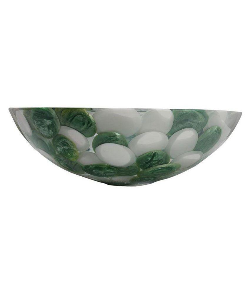 Arista Green Vinyl/Acrylic Over Counter Wash Basins