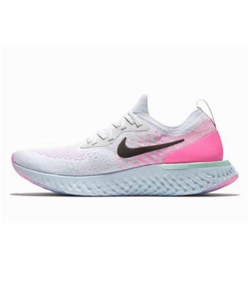 ac29482afe9 Nike Pink Epic React Flyknit Womens Running Shoes  Buy Online at ...