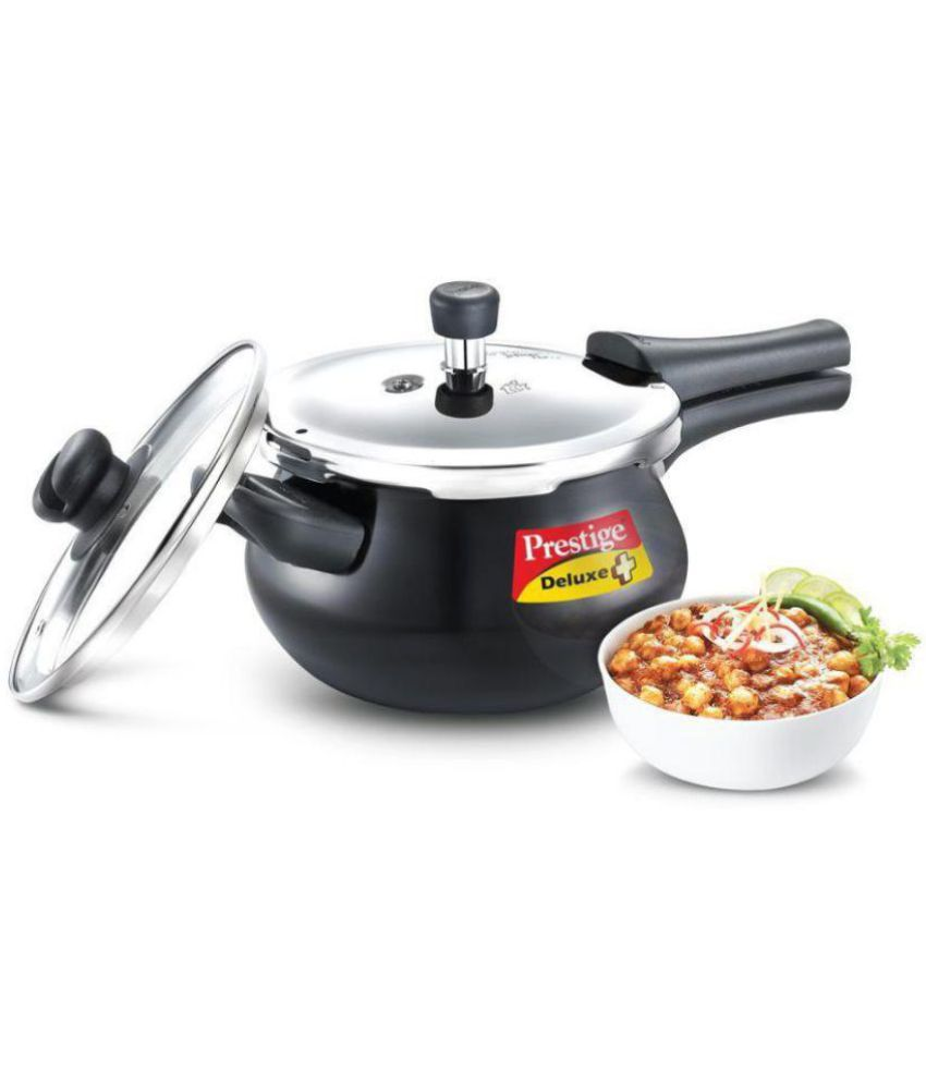 Prestige 3 Ltrs Hard Anodized OuterLid Pressure Cooker Induction Stovetop Compatible