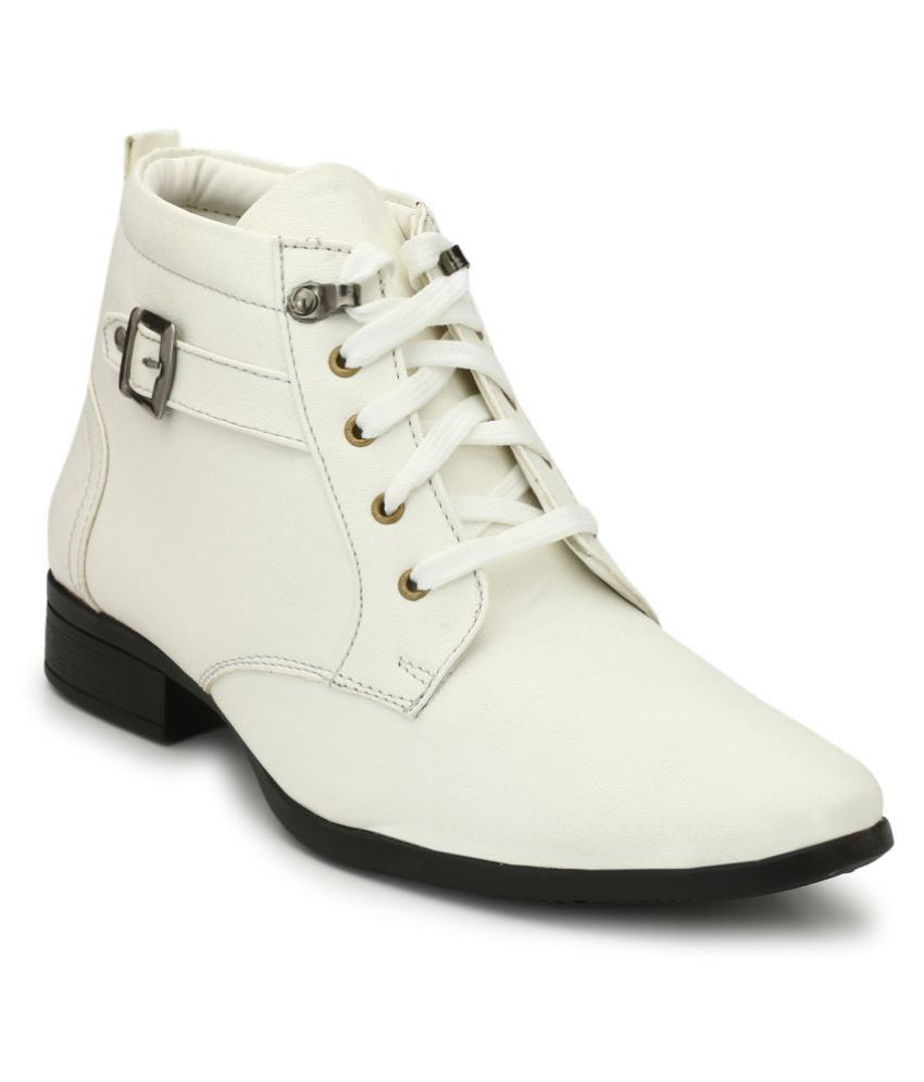 Eego Italy White Casual Boot
