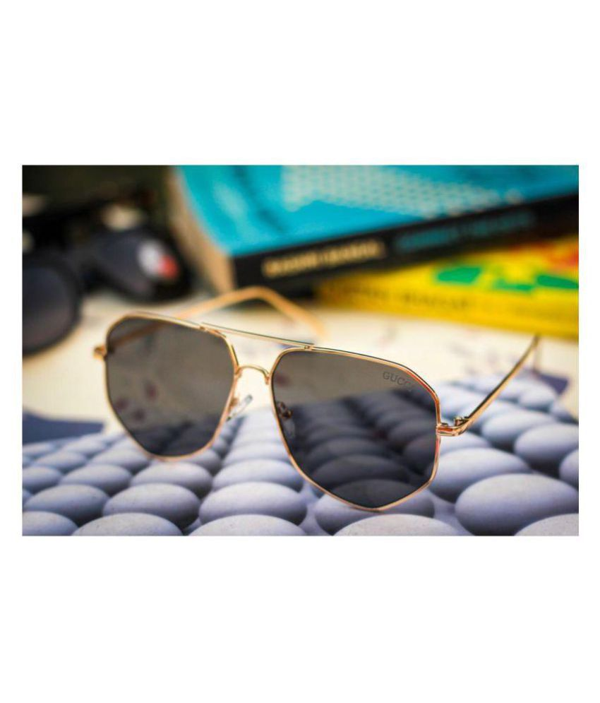 58b9e19a3cc GUCCI EYEWEAR Black Aviator Sunglasses ( G13 ) - Buy GUCCI EYEWEAR Black  Aviator Sunglasses ( G13 ) Online at Low Price - Snapdeal