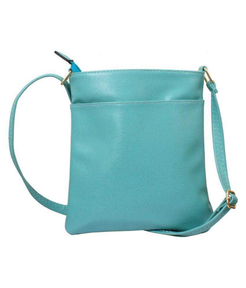 Gifts Bring Smiles Green P.U. Sling Bag