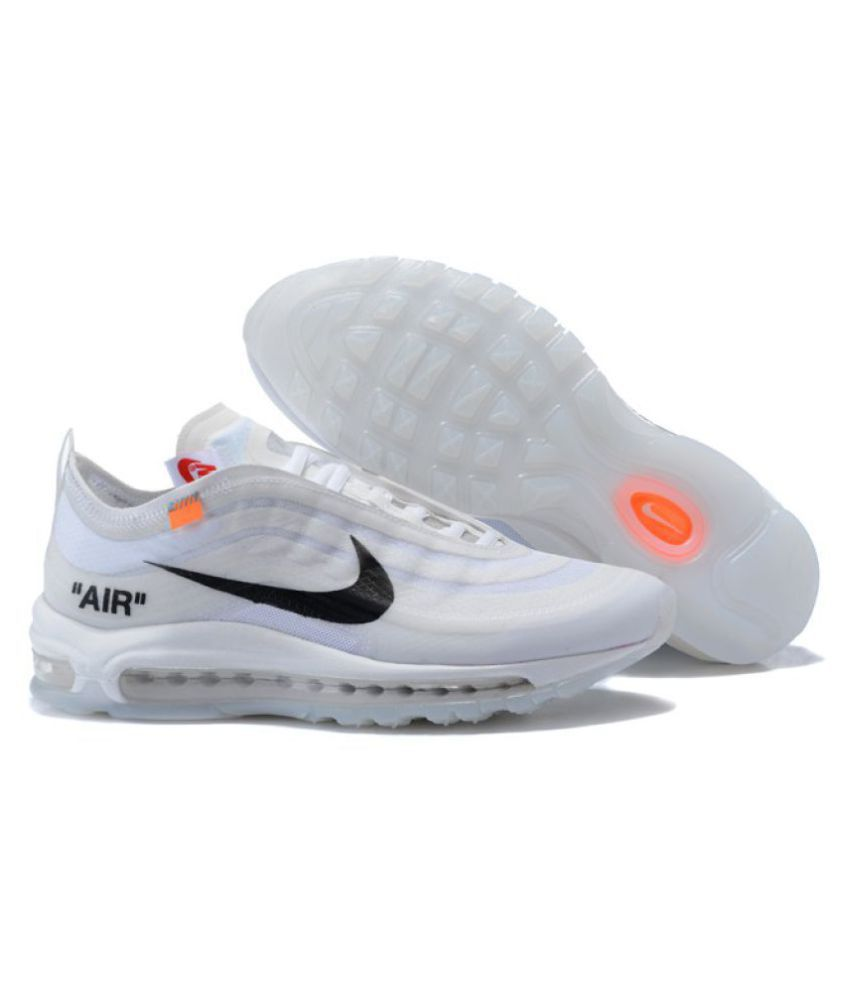 purchase cheap d248d 8604a Nike Air Max 97 Off-White x 2019 LTD White Running Shoes - Buy Nike Air Max  97 Off-White x 2019 LTD White Running Shoes Online at Best Prices in India  on ...