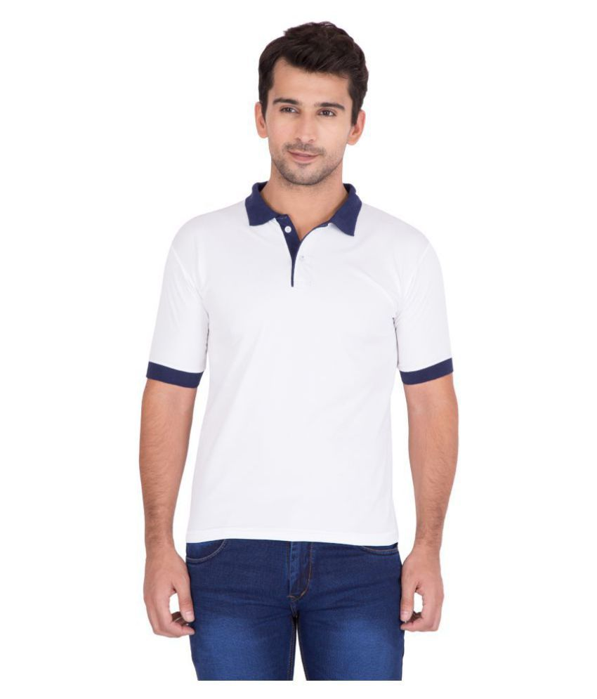 Jollify White Polyester Polo T-Shirt Single Pack