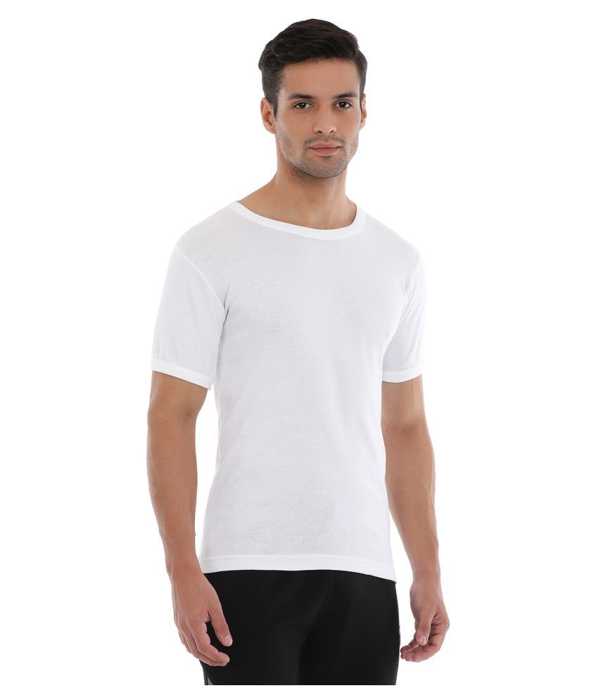 43eee383026e4f Macroman White Cotton T-Shirt Pack of 4 - Buy Macroman White Cotton ...
