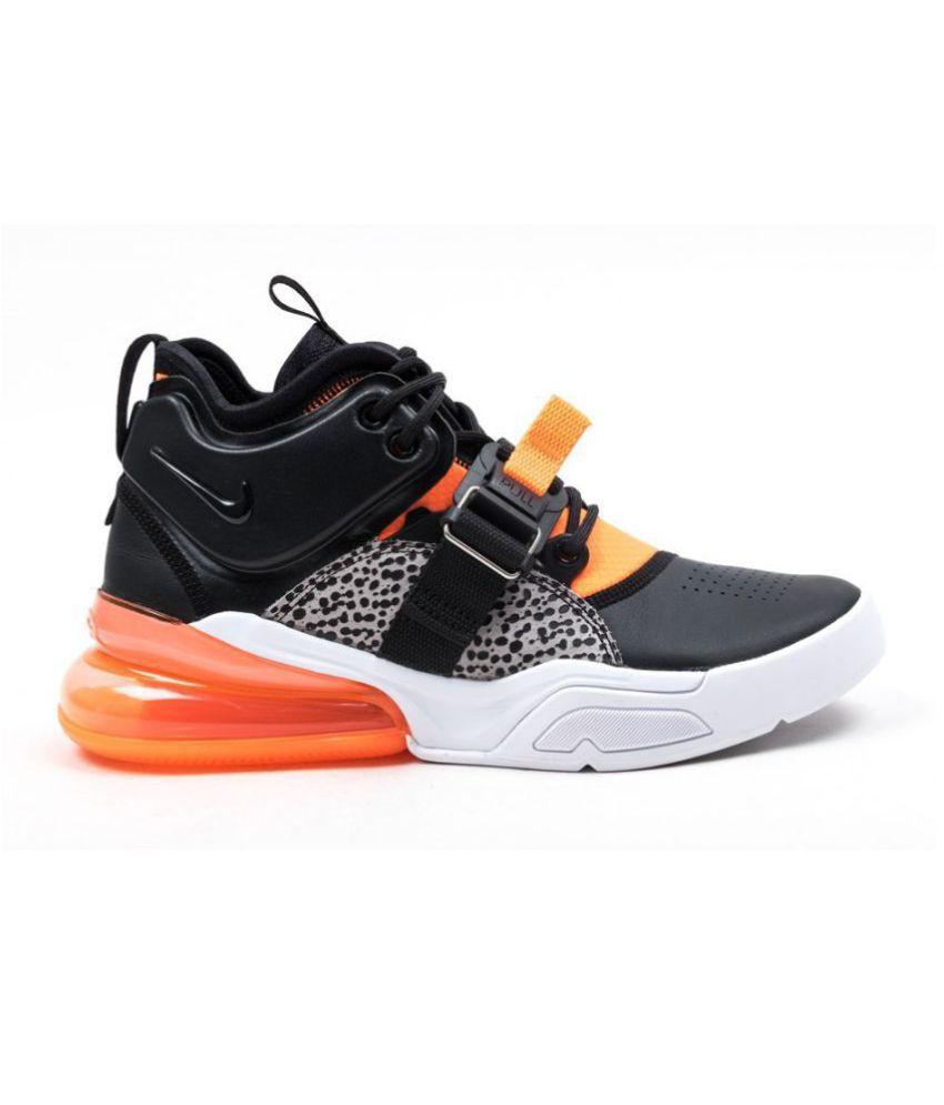 "huge discount 74133 6e0ae Nike AIR FORCE 270 ""SAFARI"" Black Running Shoes"