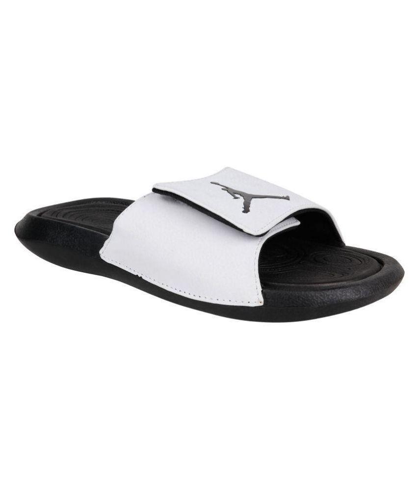 reputable site 7864f f4f91 Nike JORDAN HYDRO 6 White Slide Flip flop