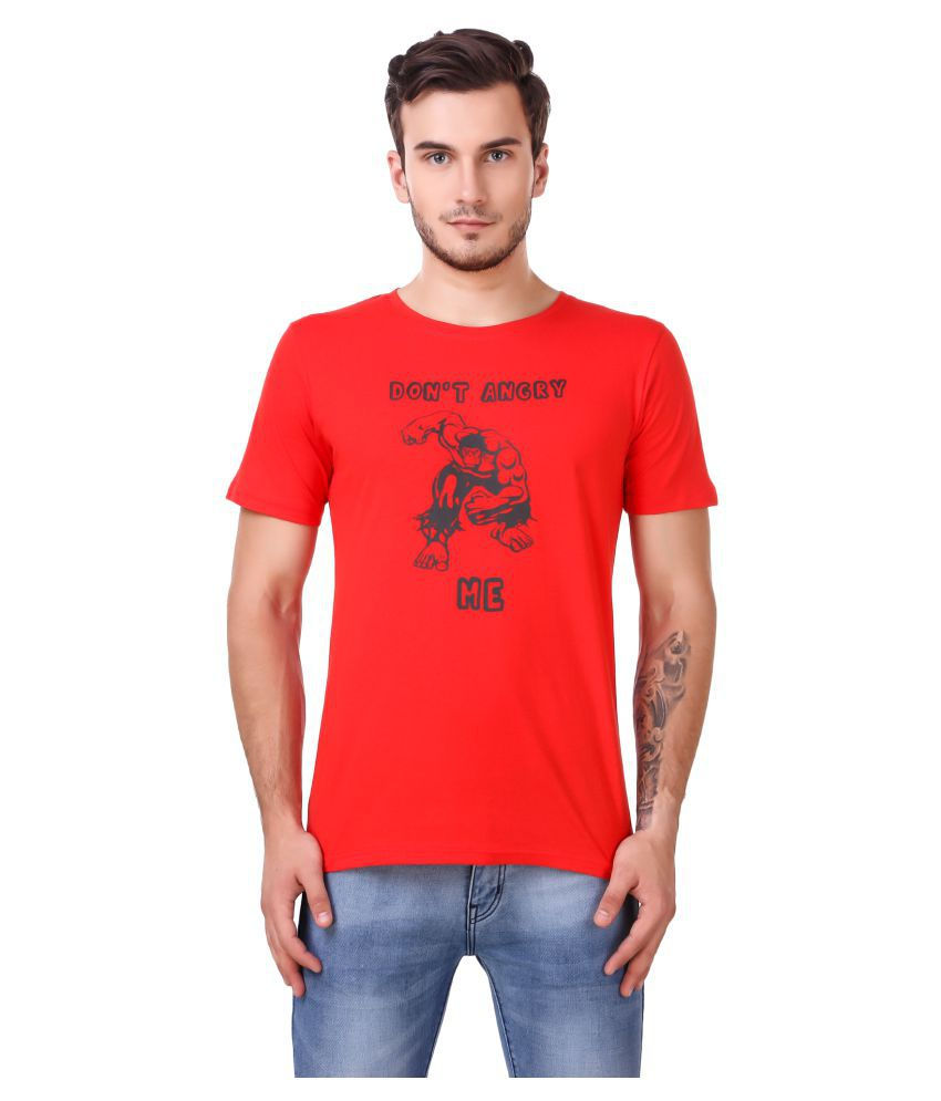 Zaambia Red Half Sleeve T-Shirt Pack of 1