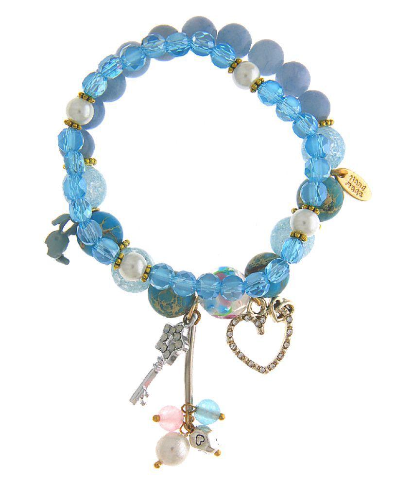 Anuradha Art Sku-Blue Colour Styled With Beads Designer Hand Bracelets For Women/Girls