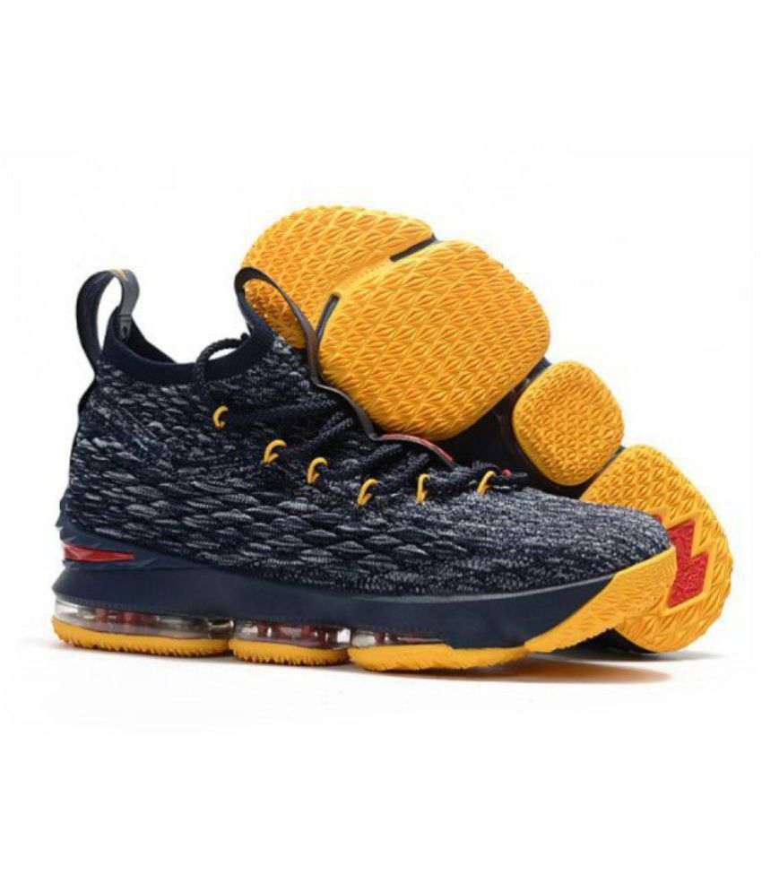 77fbbc817094 Nike LEBRON X15 PREAL Navy Basketball Shoes - Buy Nike LEBRON X15 ...