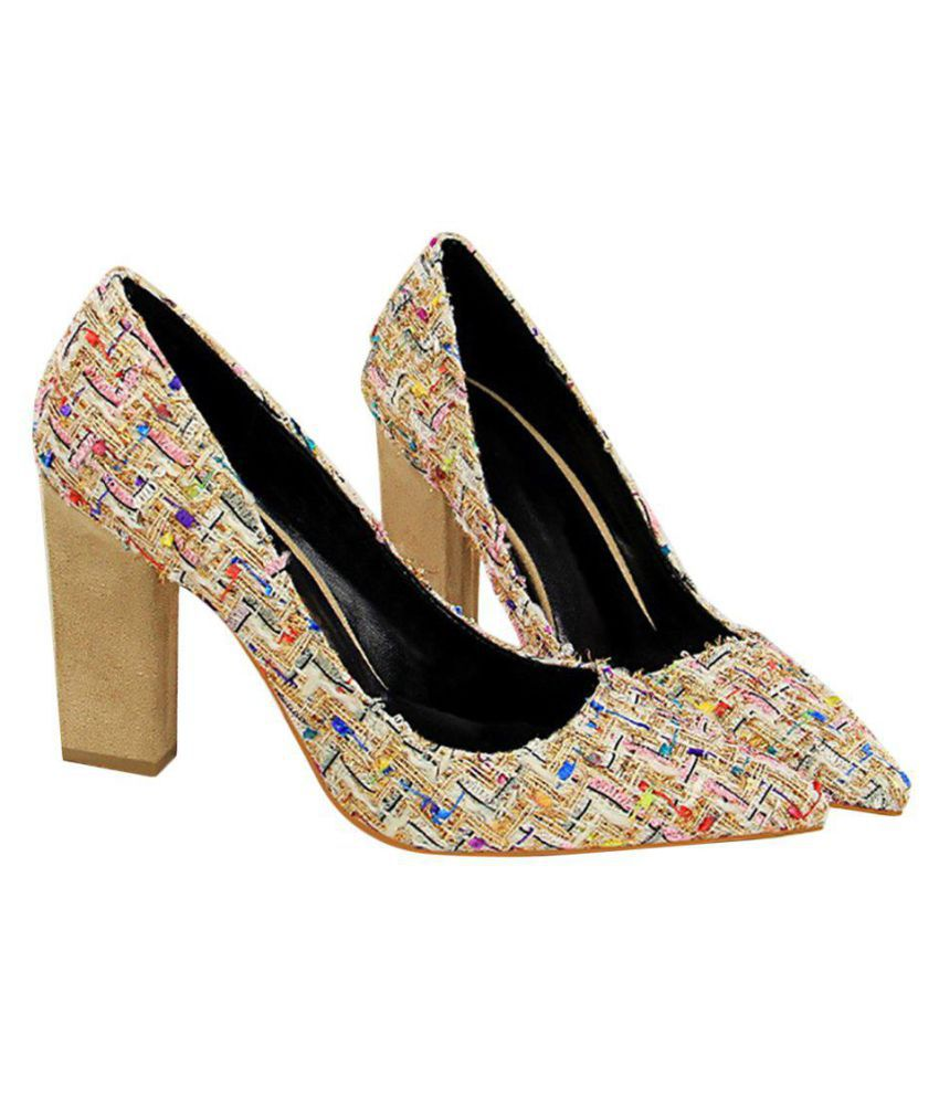 Generic Beige Block Heels