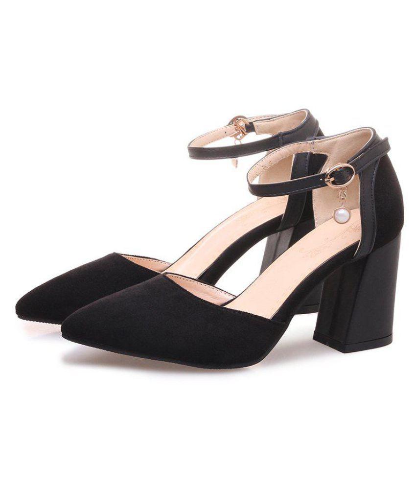 Generic Black Block Heels