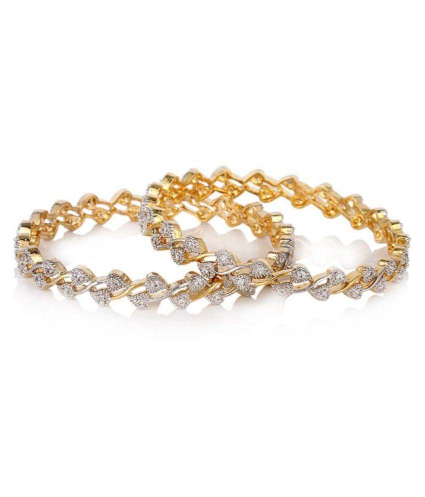 JSD American Diamond Bangles Set for Women and Girls_2.4