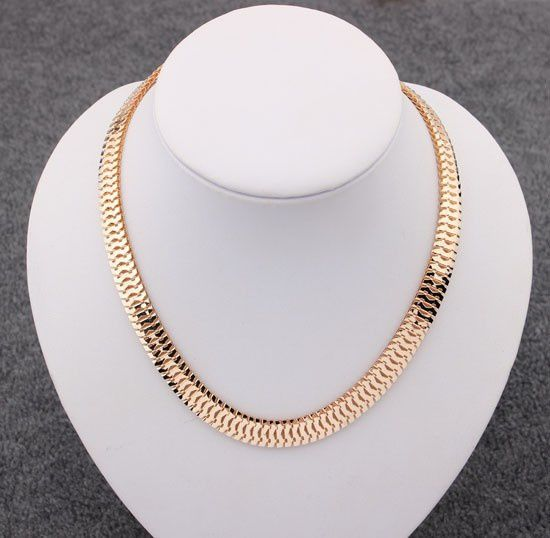 Kamalife 48CM 2 colors 18K Gold Filled chain Necklace Herring Snake Chain Mens Chain Womens Necklace Wholesale Jewelry Gift N718