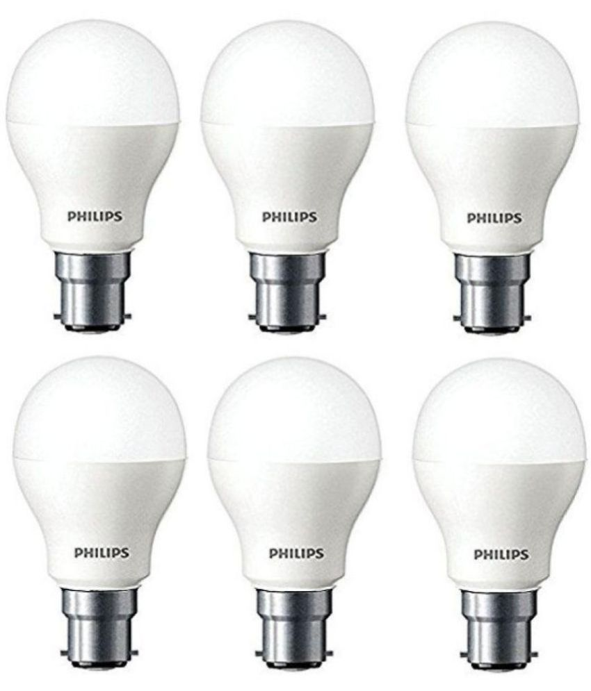Philips 7W LED Bulb Cool Day Light - Pack of 6