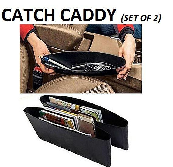 Black Car Seat Pocket Catcher- Catch Caddy - Pack of 2
