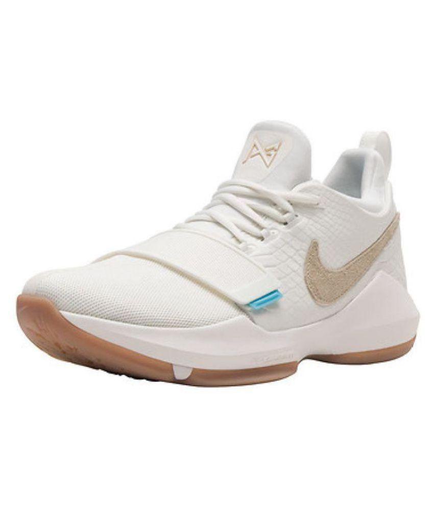 c1dcaeac9b32 Nike PG 1 PAUL GEORGE White Basketball Shoes - Buy Nike PG 1 PAUL ...