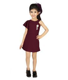 f8460f17b3a Quick View. Addyvero Girls Ruffle Shoulder Maroon Party Dress