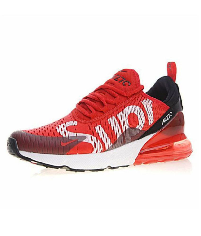 quality design 94b06 45a72 Nike Air Max 270 Supreme Edition Running Shoes Red  Buy Online at Best Price  on Snapdeal