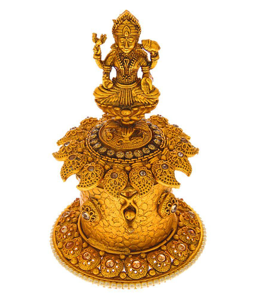 Anuradha Art Antique Gold Finish Wonderful Sindoor Box For Women