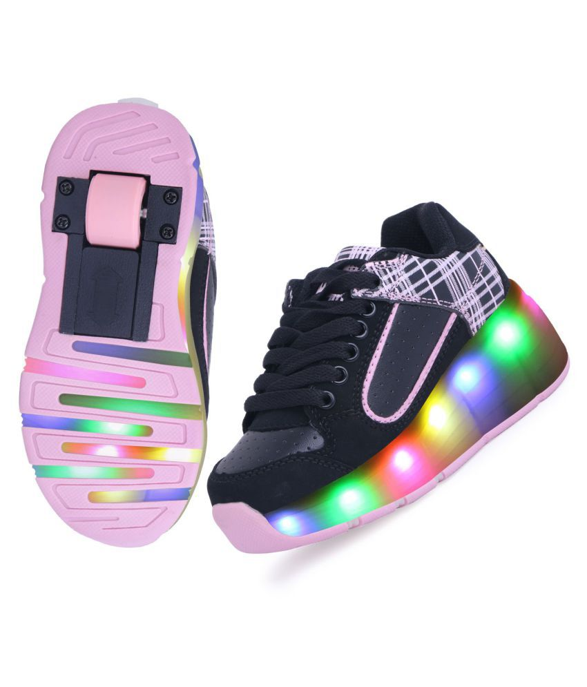 Tepcy Black Color Stylish LED Light Up Casual Kids Shoes Price in India-  Buy Tepcy Black Color Stylish LED Light Up Casual Kids Shoes Online at  Snapdeal 136f5692567a