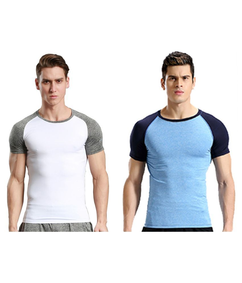 Zesteez Men's Tshirt Ultra Stretchable compression support Gym work out Body Building T-shirt in Premium Lycra Fabric GYM||YOGA||Activewear||sportswear||Running||compression muscle support