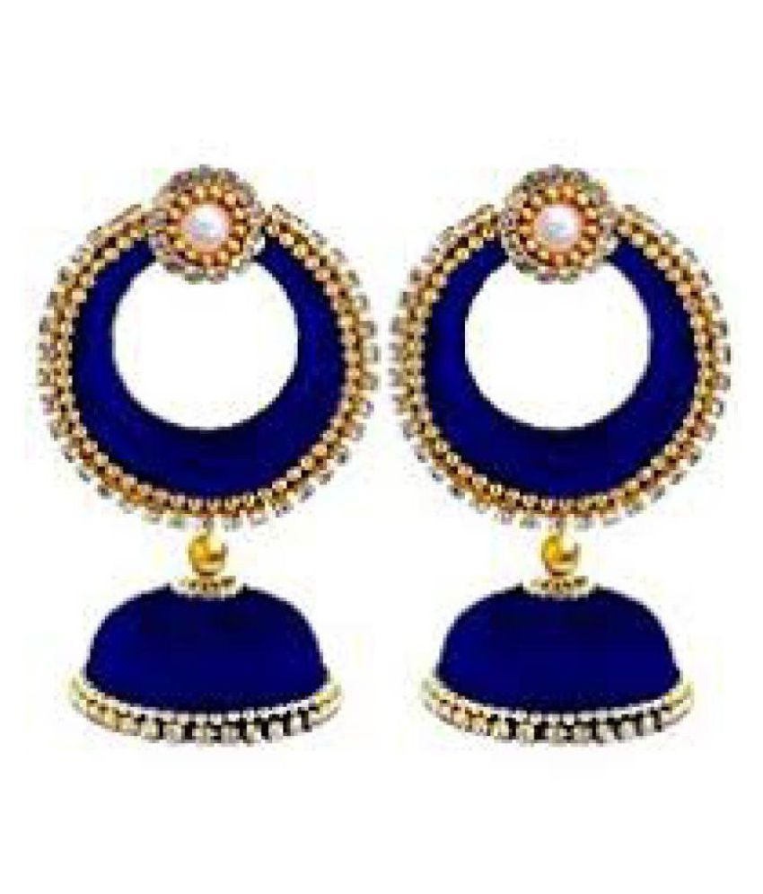 Gorgeous Silk Jhumkas to match any traditional attire!!!Simple yet elegant!!! Would be a sure match to any traditional attire......