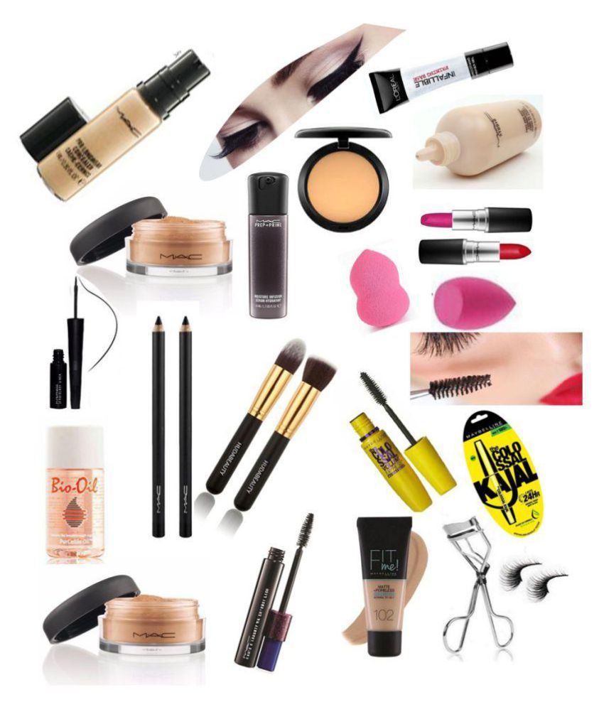 c6b768ef794 Mac +Huda+maybelline+Loreal Makeup Kit 58 gm: Buy Mac +Huda+maybelline+ Loreal Makeup Kit 58 gm at Best Prices in India - Snapdeal