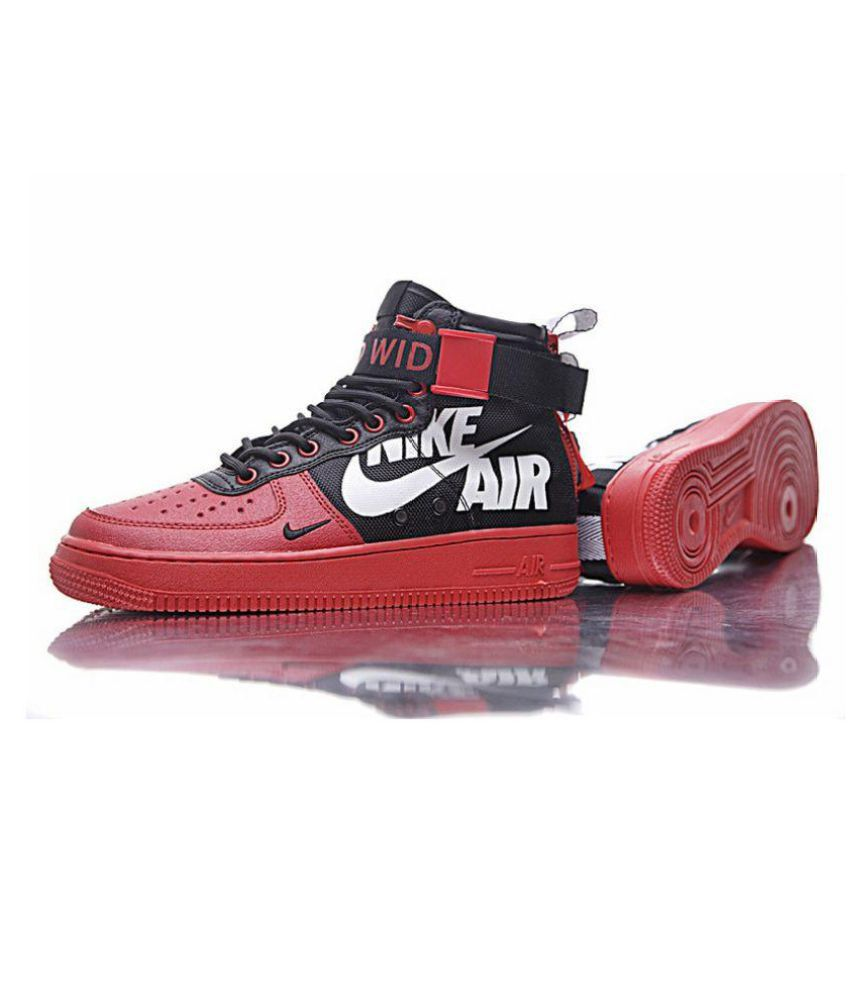 00a66430283bd Nike SF-AF1 Mid for 12 O  Clock Red Running Shoes - Buy Nike SF-AF1 Mid for  12 O  Clock Red Running Shoes Online at Best Prices in India on Snapdeal