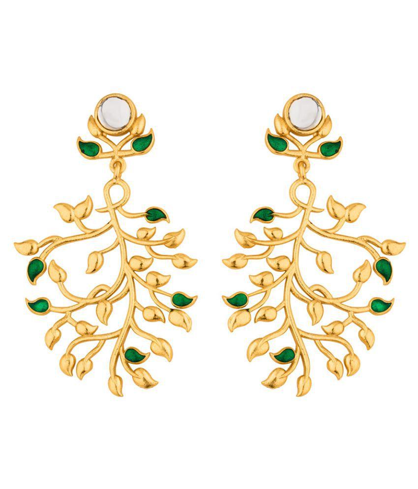Voylla Floral Spring Corolla Earrings