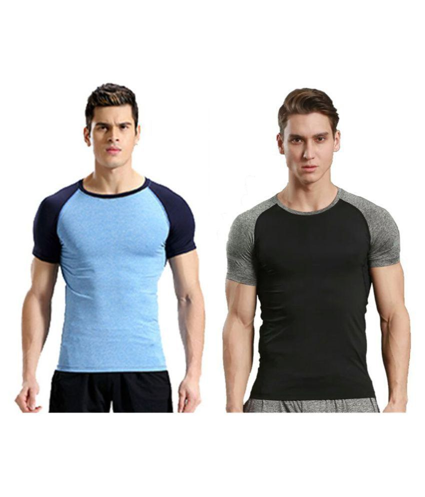 Zesteez Men's Tshirt Ultra Stretchable compression support Gym work out Body Building T-shirt in Premium Poly Lycra Fabric GYM||YOGA||Activewear||sportswear||Running||compression muscle support