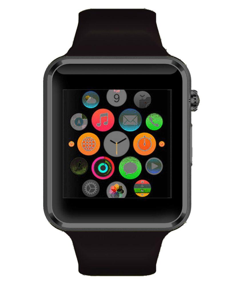 WOKIT Smartwatch Suited Alcatel Shine Lite A1 Black Smart Watches