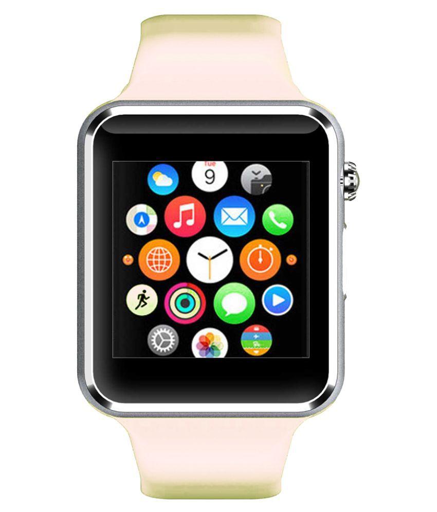 WOKIT Smartwatch Suited Intex Aqua 4.0 A1 White Smart Watches