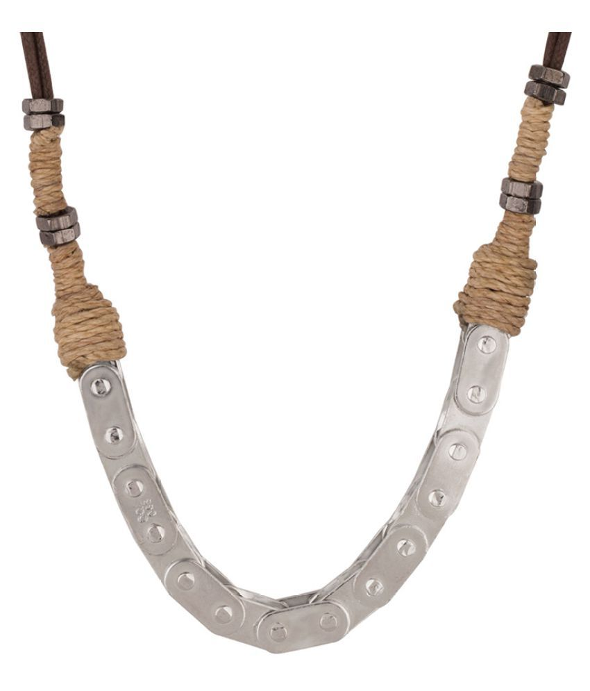 Dare by Voylla Sleek Bike Chain Necklace from Motorcycle Diaries Collection