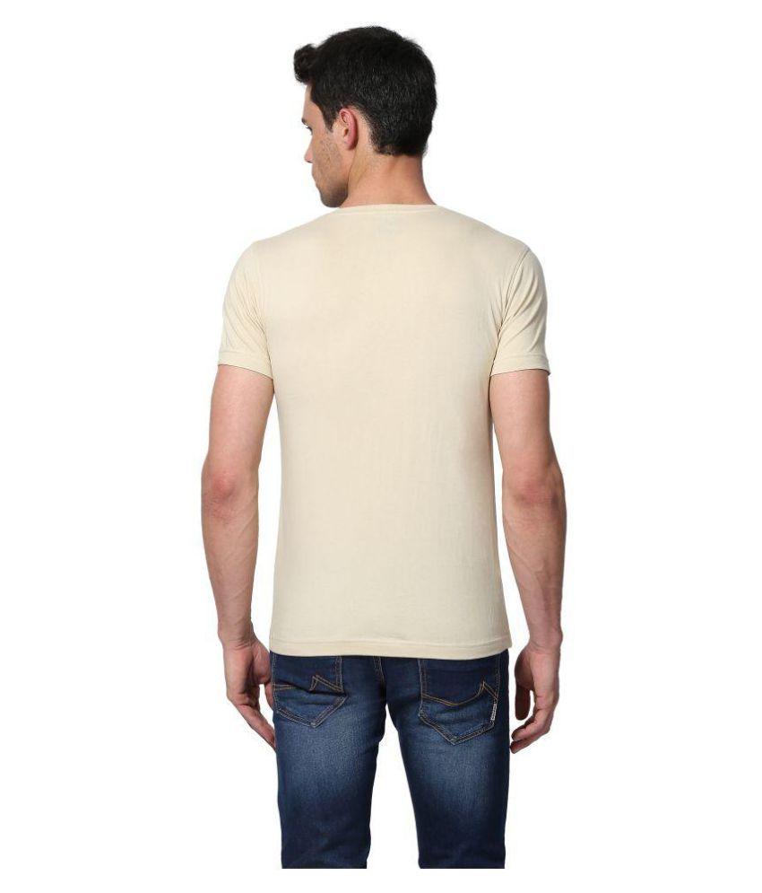 Goat Beige Half Sleeve T-Shirt