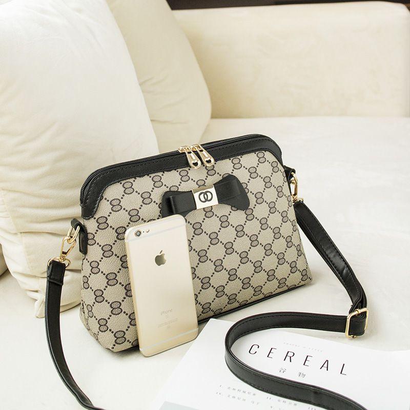 Paris Bally Black Faux Leather Sling Bag