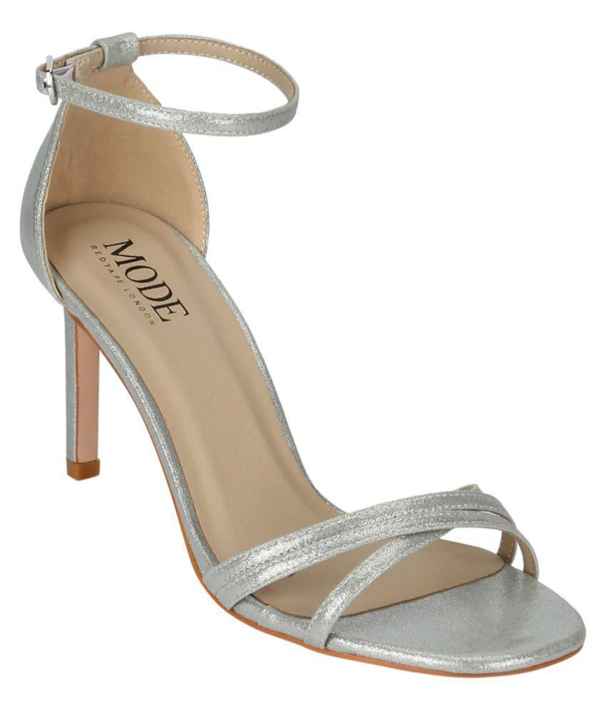 Mode By Red Tape Silver Stiletto Heels