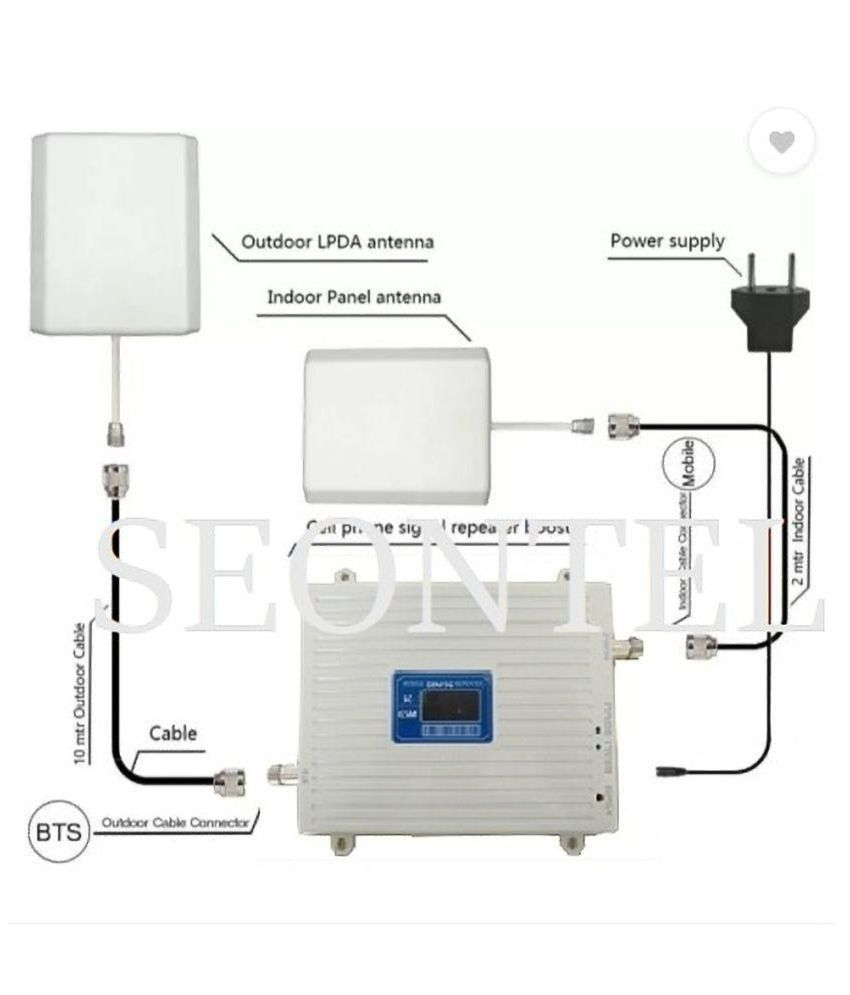 SEONTEL Mobile Signal Booster/Repeater 3G call & 4G Data 1300 4G