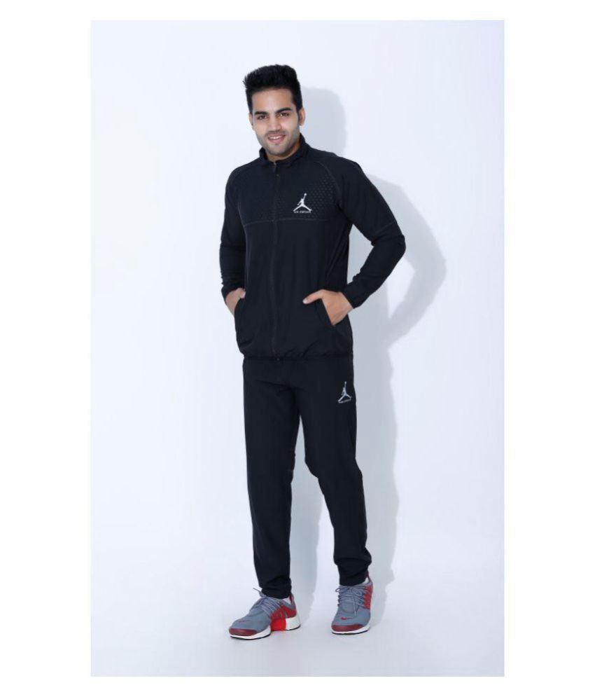 b4d3b4f803132 Nike Air Jordan Black Polyester Lycra Tracksuits - Buy Nike Air Jordan  Black Polyester Lycra Tracksuits Online at Low Price in India - Snapdeal