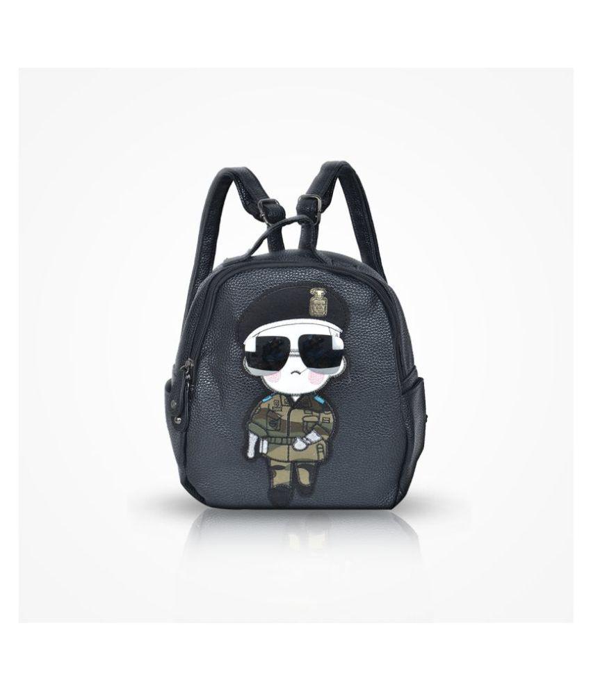 Violet Black P.U. Sling Bag