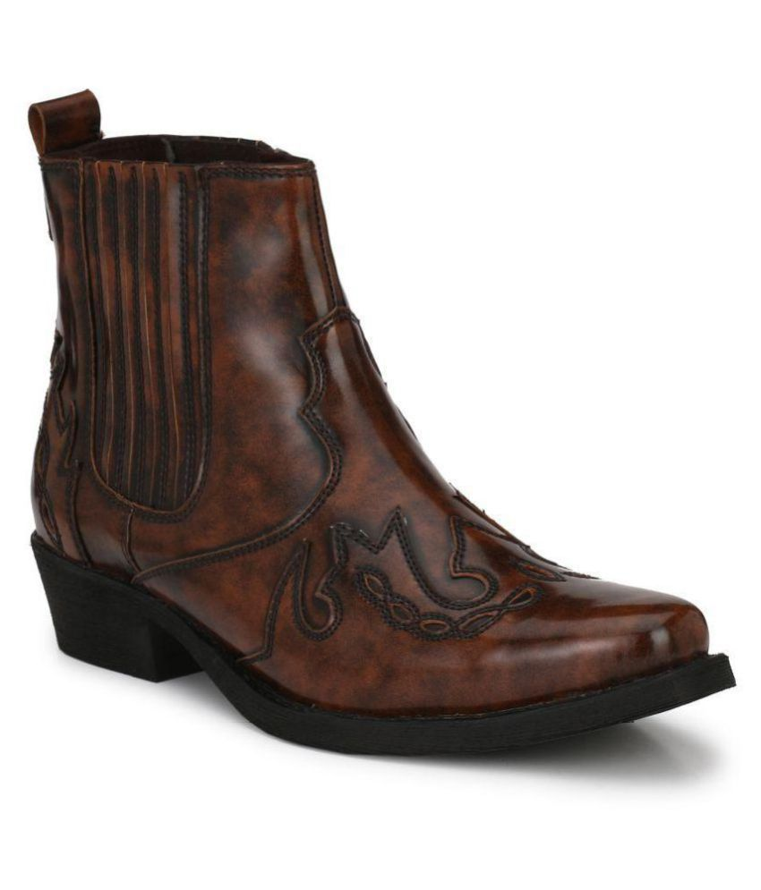 Delize Brown Cowboy boot