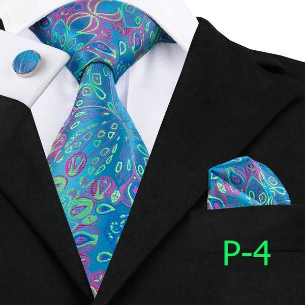 Kamalife Blue Floral Silk Necktie
